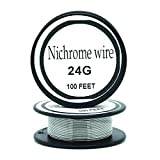 Nichrome wire36g 34g 32g 30g 28g 27g 26g 24g 22g 20g Calibre 100 FT 0,2 mm Resistencia AWG Resistencia (24Gauge/100Feet)