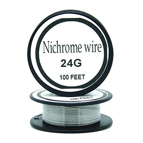 Nichrome wire36g 34g 32g 30g 28g 27g 26g 24g 22g 20g Gauge 100 FT 0.2mm Resistor AWG Resistance (24Gauge/100Feet)