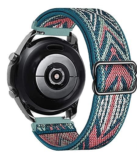 Correa de nylon for Samsung Galaxy Watch 4 / Classic / 3 / Active 2 / Gear S3 Ajustable Elastic Wamkband Wei GT 2 / 2E / Pro Banda (Band Color : 1, Band Width : 22mm)