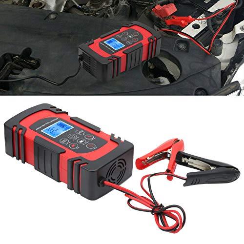 Eulbevoli Cargador de batería, Cargador de batería de Coche automático para Motocicleta de Coche AC110‑220V para Cargar(Transl)