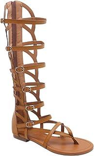 vapor Marcado Sabor  Amazon.es: sandalia romana mujer alta