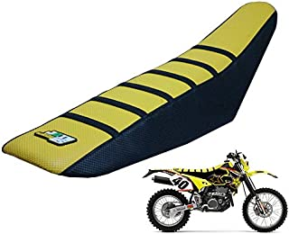 JFG RACING Yellow/Black Gripper Soft Motorcycle Seat Cover For Suzuki RM85 02-17