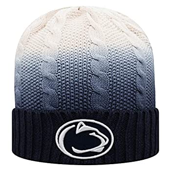 Top of the World Penn State Nittany Lions Men s Team Color Cable Knit Cuffed Knit Winter Hat One Fit