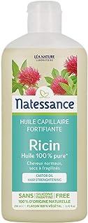 NATESSANCE Huile Capillaire Ricin pour Cheveux/Ongles 250 ml