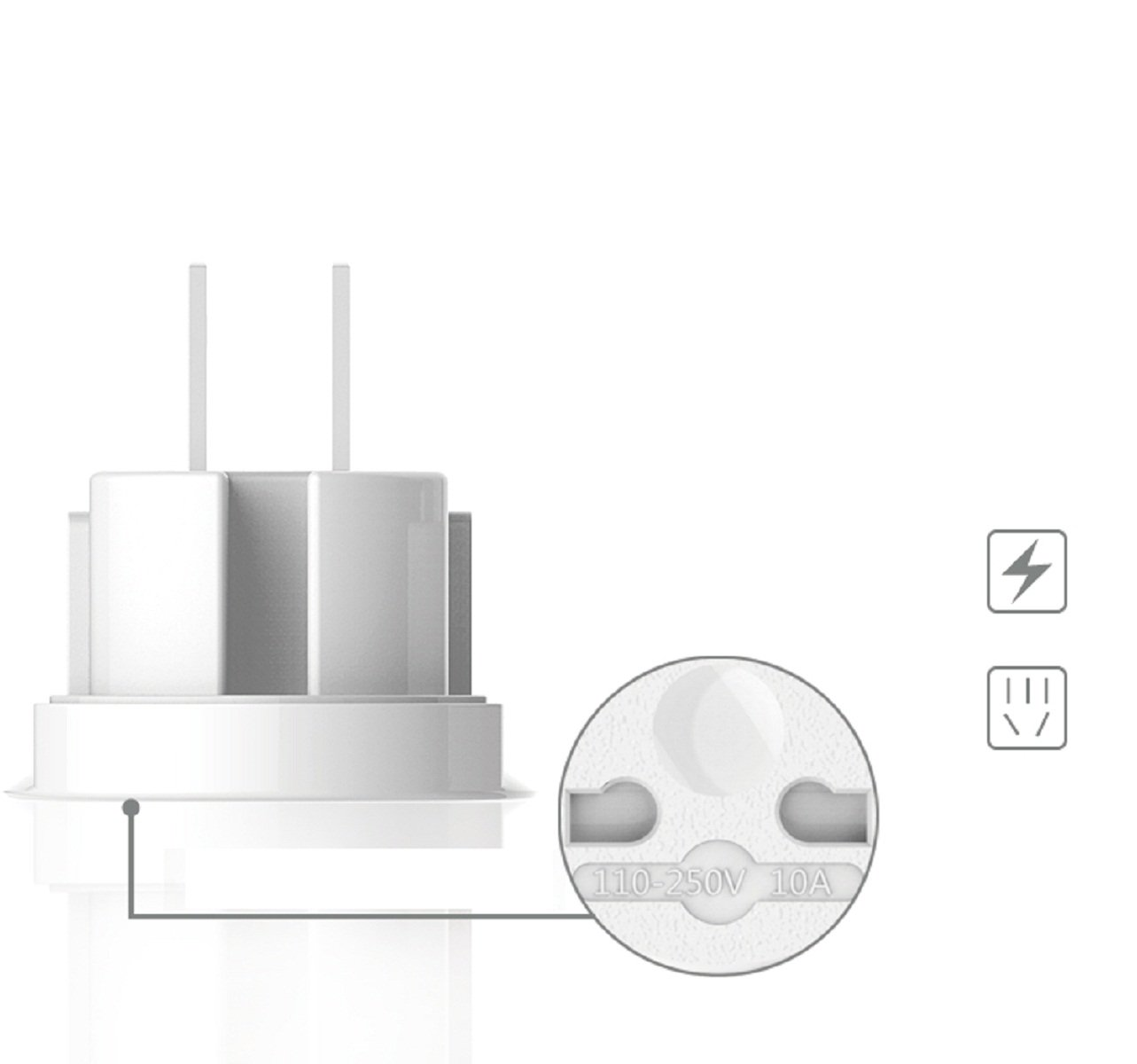 US//EU//AU//UK Plug Adaptador Enchufe Universal USAMS Multi Clavija USAMS