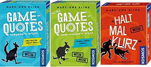 Kosmos 3er Set 692926 693145 740382 Game of Quotes + More Game of Quotes + Halt mal kurz