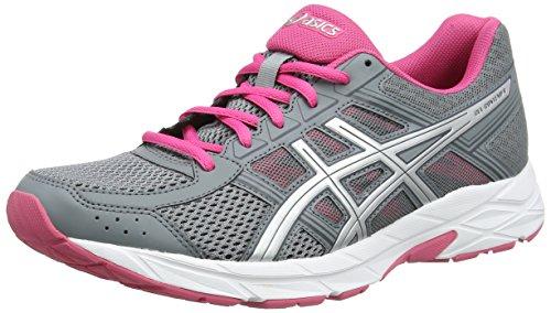 Asics Gel-Contend 4, Zapatillas de Running, Gris (Stone Greysilverhot Pink 1193), 35.5 EU