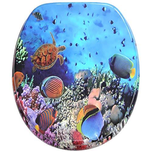 WC Sitz, viele schöne WC Sitze zur Auswahl, hochwertige und stabile Qualität aus Holz (Ocean)