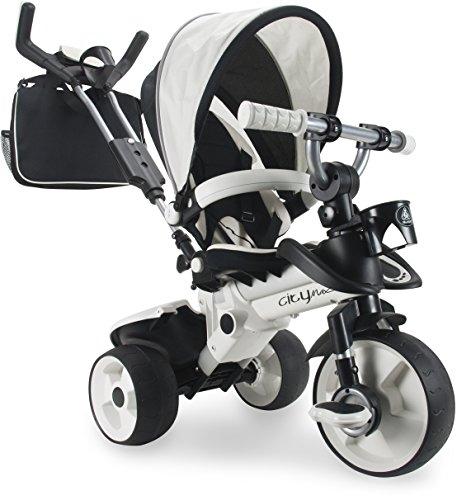 INJUSA- Disney Triciclo City MAX Blanco para Bebés