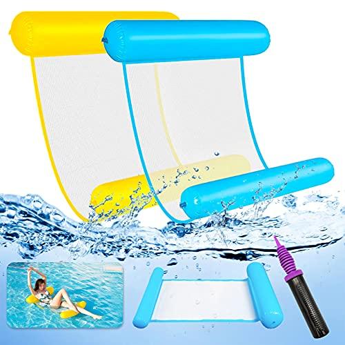 LISOPO 2pcs Luftmatratze aufblasbare Pool, Hängematte Pool Wasser-Hängematte Spielzeug 4 In 1 Aufblasbare Wasserspielzeug Pool Zubehör luftmatratze aufblasbare für Erwachsene und Kinder