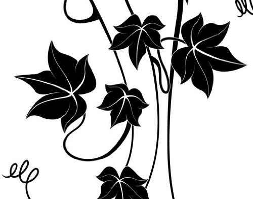 Fenstertattoo No.IS75 Efeu Kunst Floral Ranke Retro Jugendstil   Glasdekorfolie selbstklebend Milchglasfolie 5 Farben Fensterfolie Klebefolie Glasdekorfolie Sichtschutz Blickschutz Milchglas Fenster Bad Farbe: Frosted; Größe: 175cm x 100cm