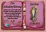 Tortenaufleger Fototorte Tortenbild Schulanfang Einschulung 1. Schultag DIN A5 SE18