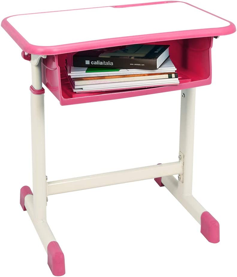 Height Adjustable Kid Study Table w//MDF Tabletop /& Storage Drawer for Boy Girl Kid Drawing Learning for School Students Study Table Pink Binrrio Child Desk and Chair Set