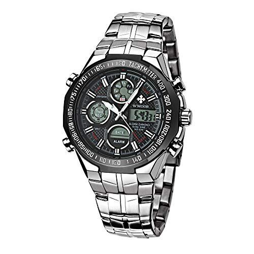 WWOOR Reloj Automatic para Hombre Relojes Digitales Cronógrafo Relojes de Pulsera Calendario Analógico…