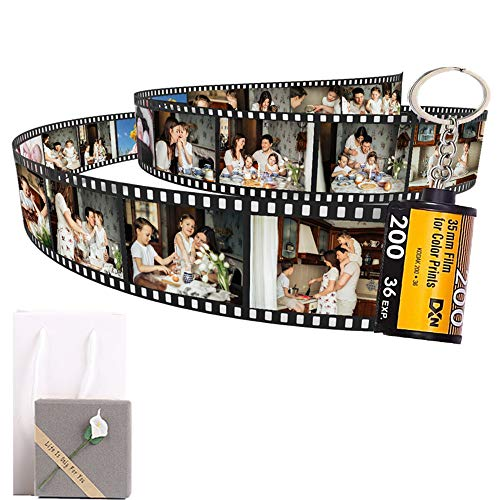 Personalized Keychains with Picture Colorful Custom Camera Film Roll, Birthday Present for Girlfriend Gift Woman Aunt Wife Mom,Best Amazing Cute Relationship Long Distance Friendship