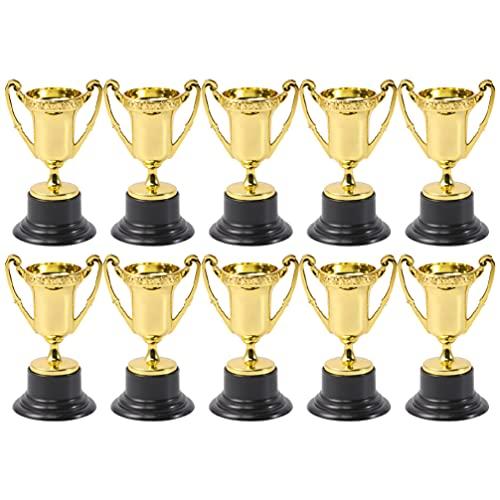 Kisangel 10 Mini Trofeos de Oro para Premios Deportivos Copas de Plástico...