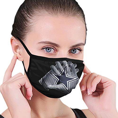 ZJLVMF Mouth Mask Dallas Cow-Boy Men/Womens Covers Dust-Proof Face Towel Breathable Mask Black