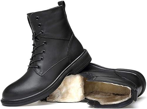 Liabb Tobillo Alto Dedo del pie rojoondo de Cuero Popular de los hombres de Chukka botas de Cuero Genuino Martin botas del ejército del Desierto Planos con Cordones botas Militares