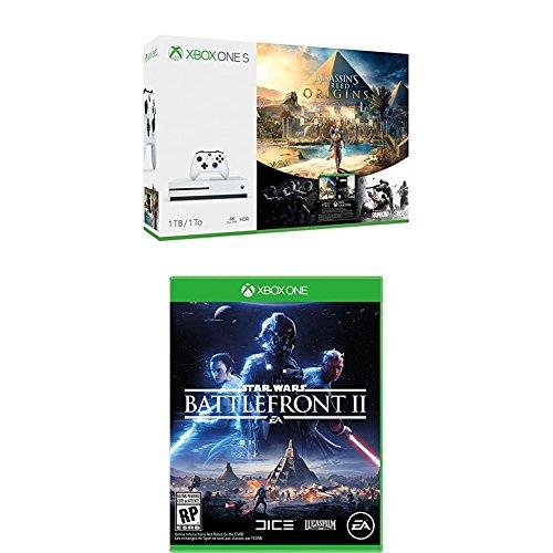 Xbox One S 1TB Assassins Creed Origins Bundle + Star Wars Battlefront 2