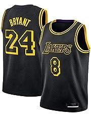 Heren Jersey, Bryant #8, #24 Herdenkingsmuseum Jersey Zwart Mamba Jersey Ademend Mouwloos Sport Vest Fan Basketbal Jersey (S-XXL)