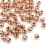 Sadingo Metallperlen Rosegold 4mm 1000 Stück, Rocailles Zwischenperlen Armband, Kleine Perlen mit Loch, Schmuck Machen