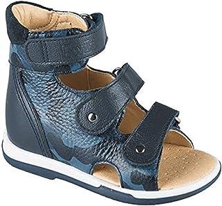 حذاء AFO للأطفال للأولاد والبنات من شركة تويكي - صندل جلد طبيعي عالي الظهر مع دعم للقوس، نعل غير قابل للانزلاق وكعب توماس