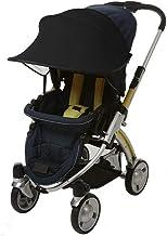 Universalgröße Sonnenschutz für Kinderwagen - Baby Sonnenverdeck für Buggy & Sportwagen Blockiert bis zu 99% UV UPF50 Sonnendach und hilft Babys zu schlafen Schwarz