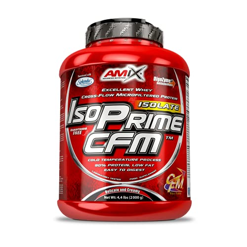 AMIX- Proteína Isolada, Isoprime CFM, Aislado de Proteína de Suero, Sabor Chocolate, Ayuda a la Recuperación Muscular, Proteína de Suero de Alta Pureza, 2 Kg