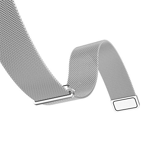 Gossip Boy Milanaise magnetisch Loop Edelstahl Bands Gurt für Huawei Armbanduhr 42mm (Silber)