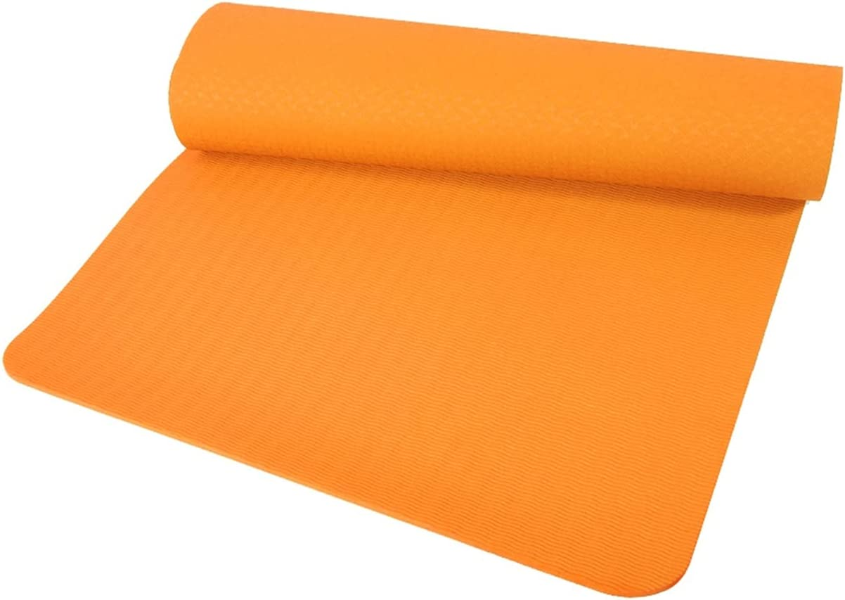 AAUU TPE Yoga Mat Non-Slip Sports EVA Fitness Max Free shipping / New 53% OFF Thick Comf 6MM