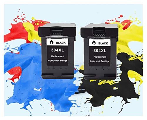 LIUYB Cartucho de Tinta 304XL Nueva versión for Hp304 for HP Deskjet 304 XL Envidia 2630 2632 5030 2620 5020 5032 3720 3730 5010 Impresora (Color : 2 Black)