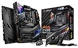 MSI MEG Z490 GODLIKE Gaming Motherboard (E-ATX, 10th Gen Intel Core, LGA 1200 Socket, DDR4, SLI/CF, Triple M.2 Slots, Thunderbolt 3 Type-C, Wi-Fi 6, Mystic Light RGB) (Renewed)