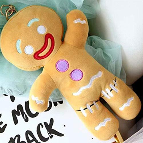 DOUFUZZ SNHPPCartoon weiche Plüsch Spielzeug Lebkuchen Mann Puppe Kissen Keks Kissen Rucksack Plüsch Spielzeug Anhänger Home Dekoration 50CM SP134-1