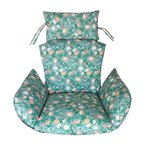 Nvfshreu Hangmat, stoelkussen, zonder staand schommelkussen, dik, eenvoudige stijl, nest, hangstoel, achterkant, met twee kussens B