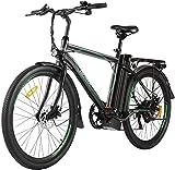 ANCHEER Bicicleta eléctrica Cruiser de 26 pulgadas con batería extraíble de 12,5 Ah integrada con Frame City Ebike de 35 millas y frenos de disco duales. Bicicleta eléctrica