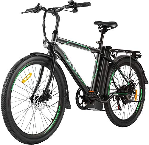 ANCHEER 26' Electric Bike for Adults, Electric Commuting Bicycle with Removable 10Ah Battery and 6-Speed Gears City Ebike