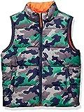Spotted Zebra Reversible Puffer Vest Infant-and-Toddler-Down-Alternative-Outerwear-Coats, Naranja (Camo/Orange), S