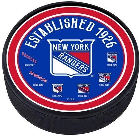 Mustang New York Rangers Hockey-Puck mit 3D-Struktur