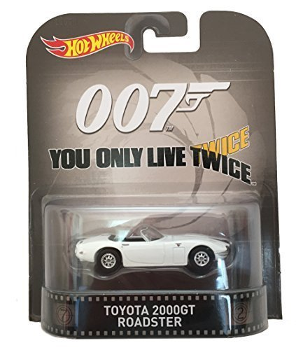 Hot Wheels Toyota 2000GT Roadster James Bond 007 You Only Live Twice 2015 Retro Series 1/64 Die Cast Vehicle by