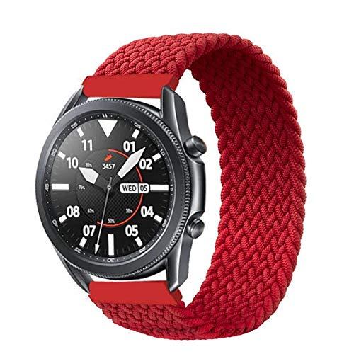 KAAGGF Banda de Bucle Solitario Trenzada de 20 mm 22mm para Samsung Galaxy Watch 3/45/41/46 / 42mm / Activo 2 Engranaje S3 Pulsera, para Huawei Watch GT / 2 / 2e Correa