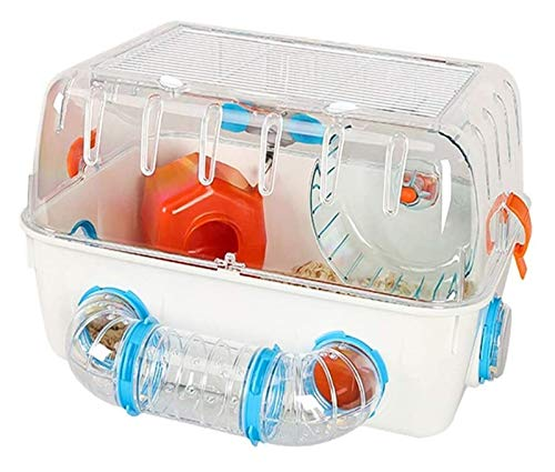 ZHZH Habitat of Love, Hamster Cage Hamster House Transparent Gerbil House Includes Water Bottle Exercise Wheel Food Bowl Hamster Hide-Out Small Animal Habitat, Best Care for Small Animals