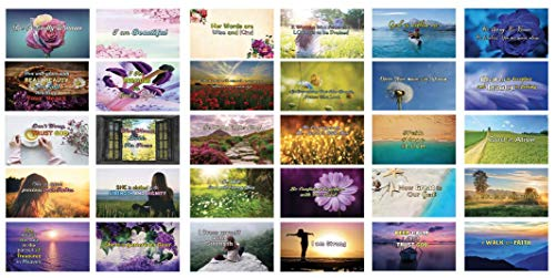 Daily Devotional Cards for Women NIV Version (30 Cards x 2 Sets) - Inspiring Quotes for Women