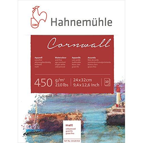 Hahnemuhle, Cornwall Block de 10 Hojas -450g/m2. (210lb) 24x32cm Mate