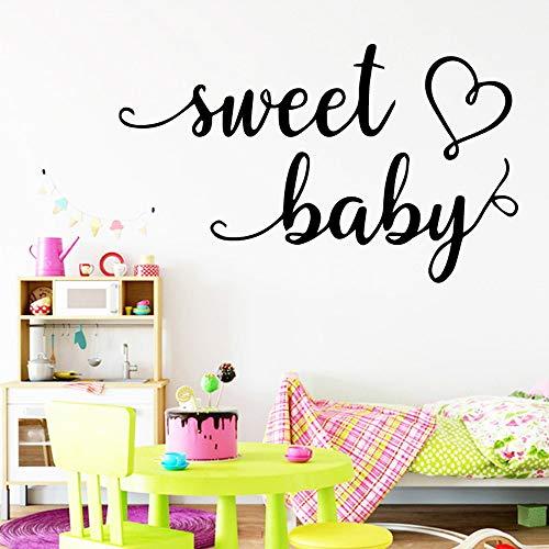 Sweet Baby Dekorative Aufkleber Home Wasserdichte Wandtattoos Kunst Aufkleber Silber M 28cm X 46cm