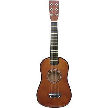 Dilwe Guitarra de 23 Pulgadas para Niños, Basswood Mini Guitarra Niños Instrumento Musical Juguete para Principiantes(Coffee): Amazon.es: Deportes y aire libre