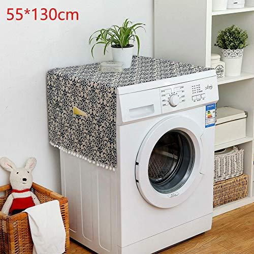 SADA72, copertura per lavatrice, protezione solare, impermeabile, antipolvere, multiuso, copertura superiore per lavatrice, frigorifero, antipolvere, con tasche, 3#, Taglia libera