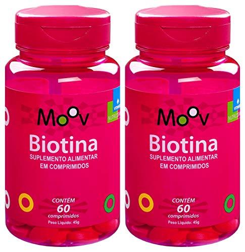 Kit 2 Biotina para a beleza da Pele Cabelos e Unhas 120 comprimidos, Vitamed