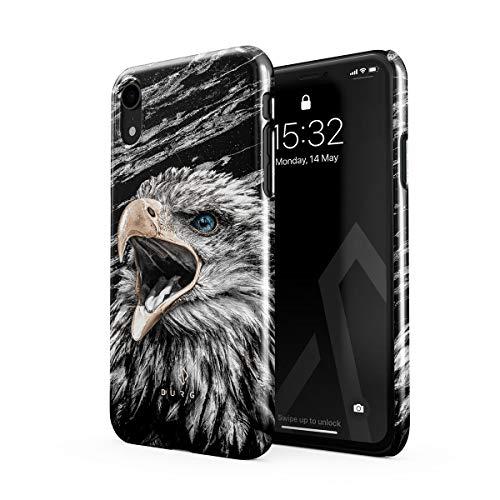 BURGA Hülle Kompatibel mit iPhone XR - Handy Huelle Vogel Wild Adler Eagle Savage Dünn Robuste Rückschale aus Kunststoff Handyhülle Schutz Hülle Cover