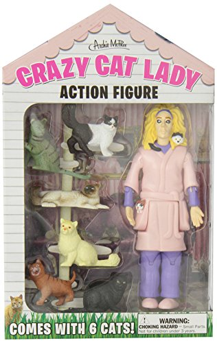 Accoutrements Crazy Cat Lady Action Figure Multicolored, 8