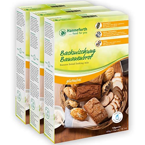 Glutenfreie Backmischung Bananenbrot | 3x400gr | Hanneforth